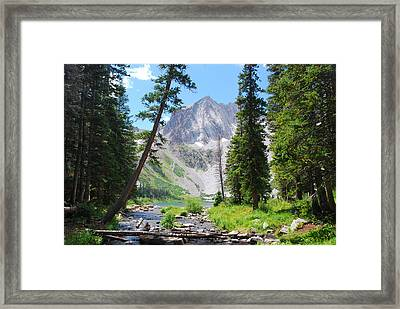 Framed Print featuring the photograph Snowmass Peak Landscape by Cascade Colors