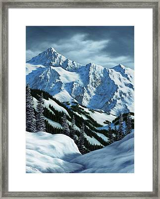 Snowpack Framed Print by Rick Bainbridge