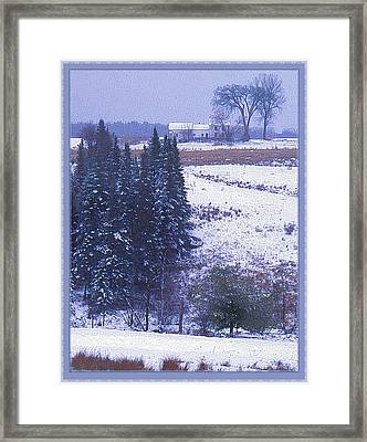 Snow's Arrival Framed Print by Joy Nichols