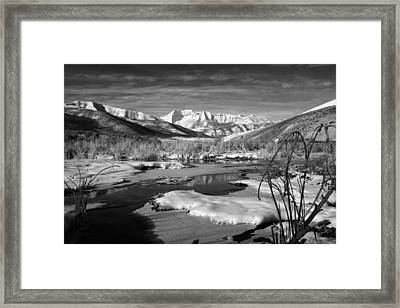 Snow's Marina Framed Print