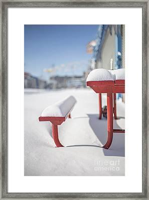 Snows Of New York Framed Print by Evelina Kremsdorf