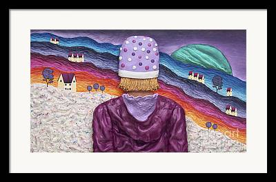 Winter In Maine Mixed Media Framed Prints