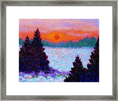 Snowscape Framed Print by John  Nolan