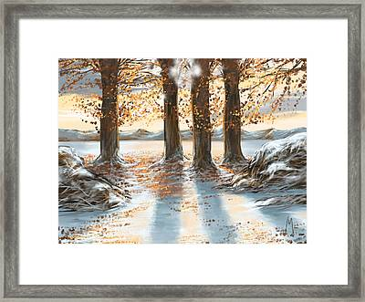 Snowscape Framed Print by Veronica Minozzi