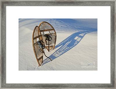 Framed Print featuring the photograph Snowshoes I by Jessie Parker