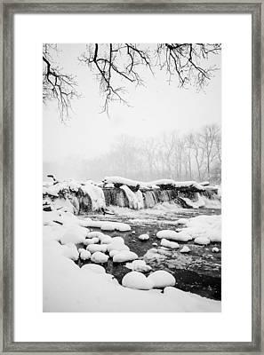 Snowstorm Framed Print by Brad Tammaro