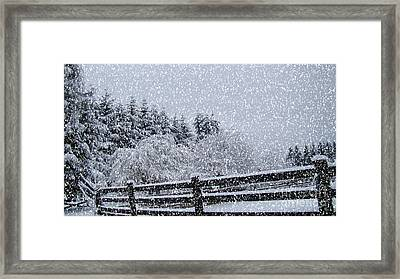 Snowstorm Coming Framed Print by Beverly Guilliams