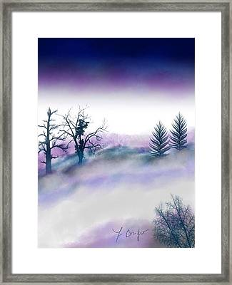Snowstorm In Catskill Ipad Version Framed Print by Frank Bright