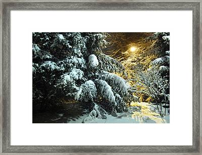 Snowy Abstract Framed Print