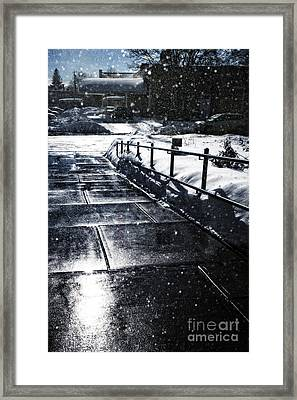 Snowy Afternoon Framed Print by HD Connelly