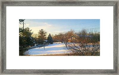 Snowy Afternoon Framed Print by Lucky Bro's