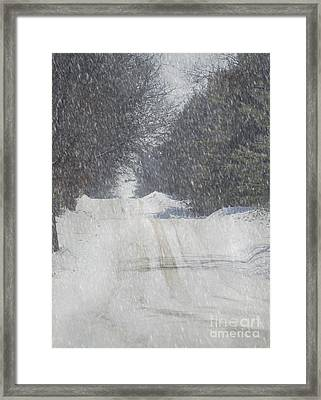 Snowy Alpine Road Framed Print by Keith Bell