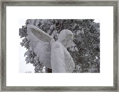 Snowy Angel Framed Print by Kevin Croitz