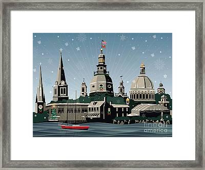 Snowy Annapolis Holiday Framed Print