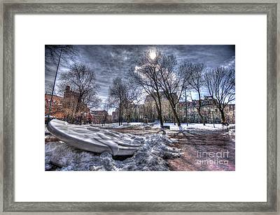 Snowy Button - Upenn Framed Print