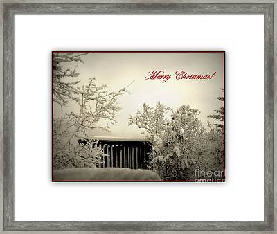 Snowy Christmas Framed Print by Leone Lund
