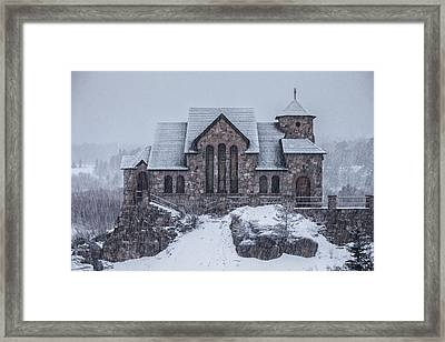 Snowy Church Framed Print