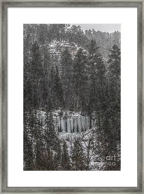 The Snowy Cliffs Of Spearfish Canyon South Dakota Framed Print