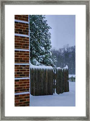 Snowy Corner Framed Print by Steven Ainsworth