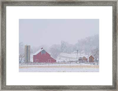 Snowy Country Winter Day Framed Print by James BO  Insogna