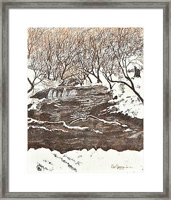 Snowy Creek Framed Print by Leo Gehrtz
