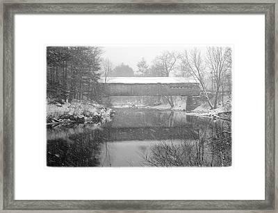 Snowy Crossing Framed Print by Luke Moore