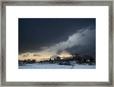 Snowy Dawn Framed Print