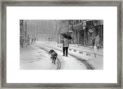 Snowy Day A?n A?stanbul Framed Print