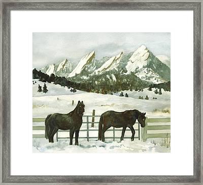 Snowy Day Framed Print by Anne Gifford