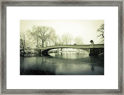 Snowy Day At The Park Framed Print