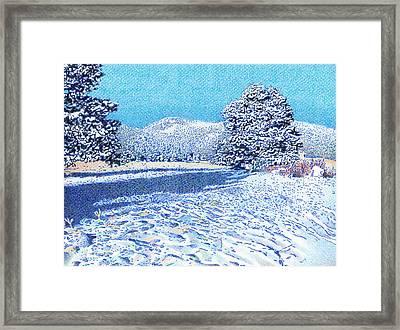 Bergen Peak Snowy Day Framed Print