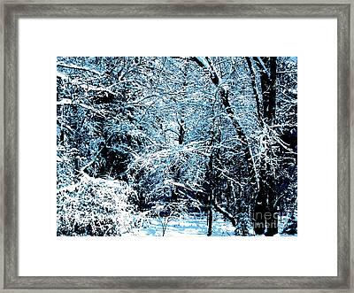 Snowy Day Landscape Framed Print
