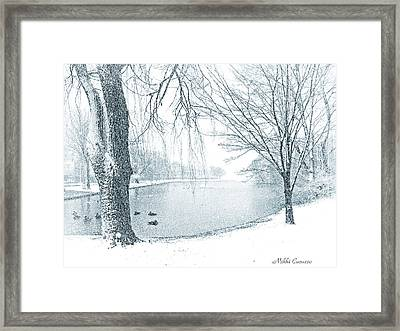 Snowy Day Framed Print by Mikki Cucuzzo