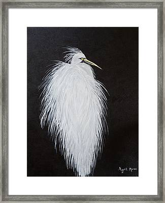 Snowy Egret Framed Print by April Moran
