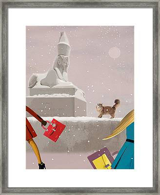 Snowy Evening In The City Framed Print
