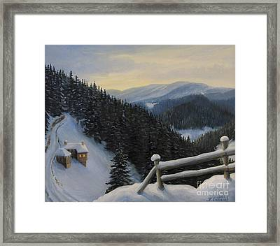 Snowy Fairytale Framed Print by Kiril Stanchev