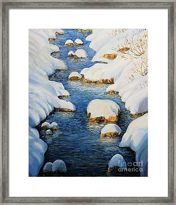 Snowy Fairytale River Framed Print by Kiril Stanchev