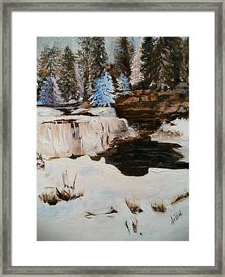 Snowy Falls Framed Print