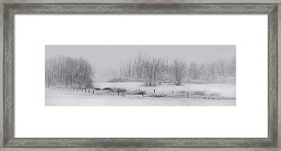 Snowy Fields Framed Print by Michele Steffey