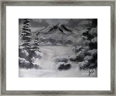 Snowy Forest Framed Print by Collin A Clarke