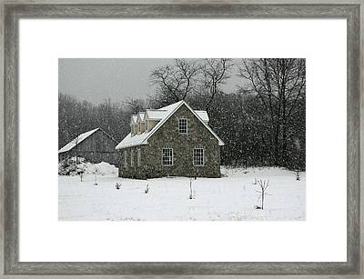 Framed Print featuring the photograph Snowy Garage by Andy Lawless