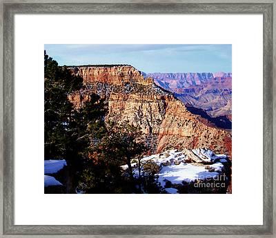 Snowy Grand Canyon Vista Framed Print
