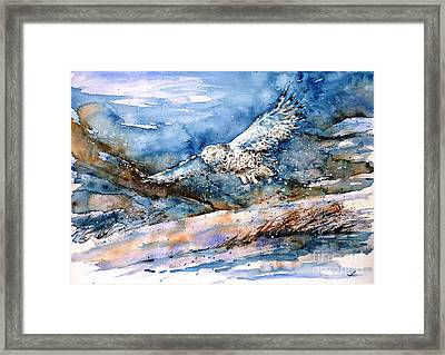 Snowy Guard Framed Print by Zaira Dzhaubaeva