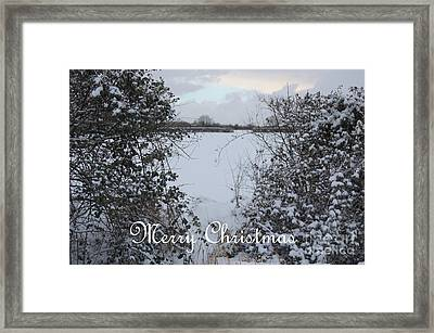 Snowy Heart For Christmas Framed Print