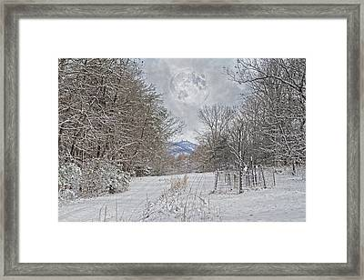 Snowy High Peak Mountain Framed Print