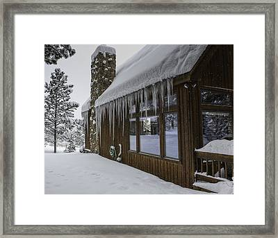 Snowy House Framed Print by Tom Wilbert