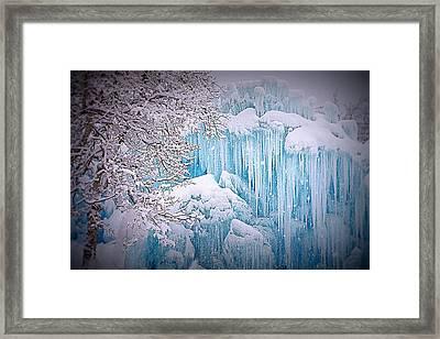 Snowy Ice Castle Framed Print
