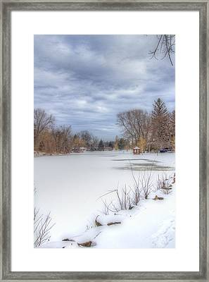 Snowy Lake Framed Print