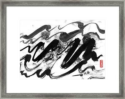 Snowy Landscape Framed Print by Hakon Soreide
