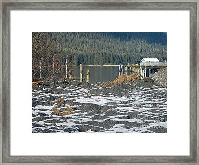 Snowy Landscape Framed Print by Laura  Wong-Rose